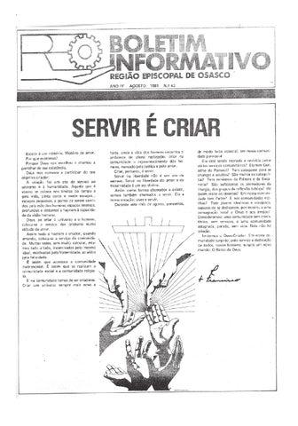 [Bio Região Episcopal Osasco Agosto 1981]