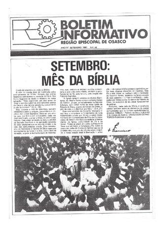 [Bio Região Episcopal Osasco Setembro 1981]