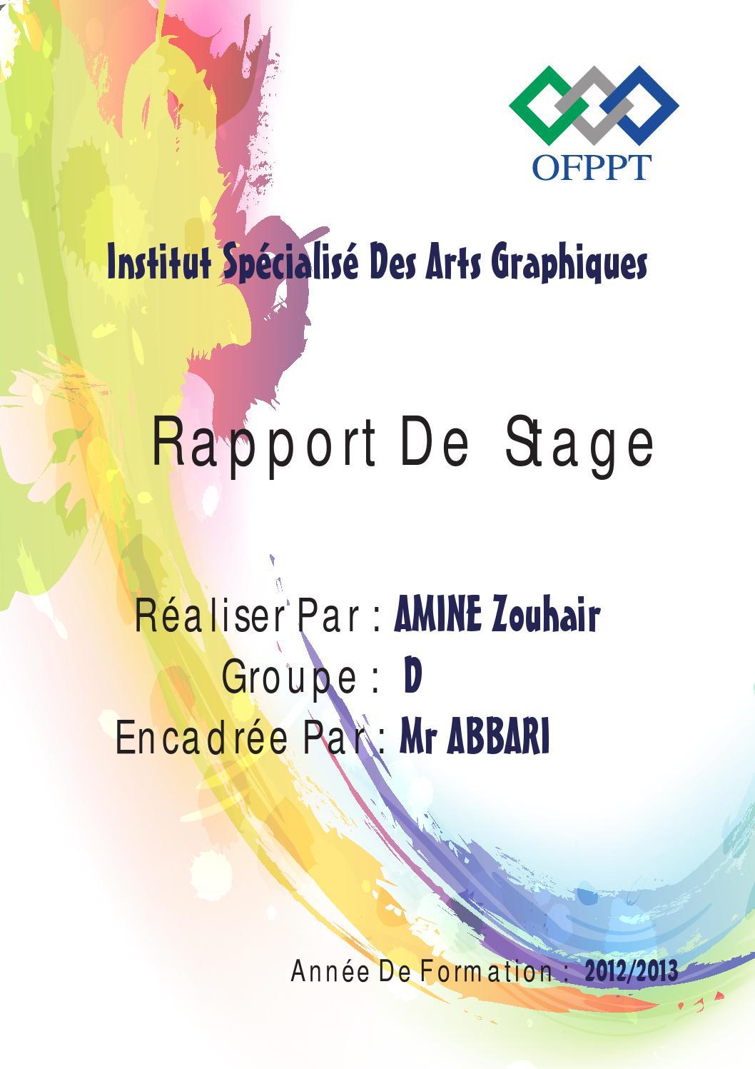 Rapport de stage 1er ann e isag by z h r m ne issuu - Page de garde rapport de stage open office ...