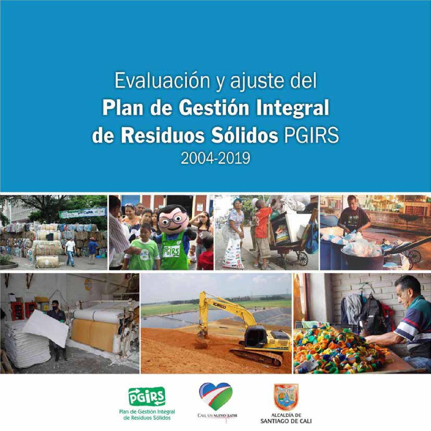 Plan De Gesti N Integral De Residuos S Lidos Pgirs 2004