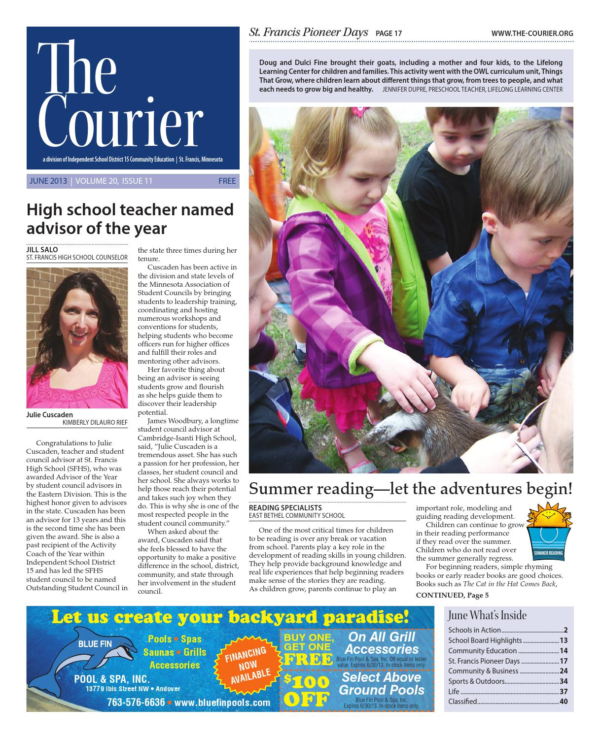 The Courier September 2013 By Independent School District 15 St