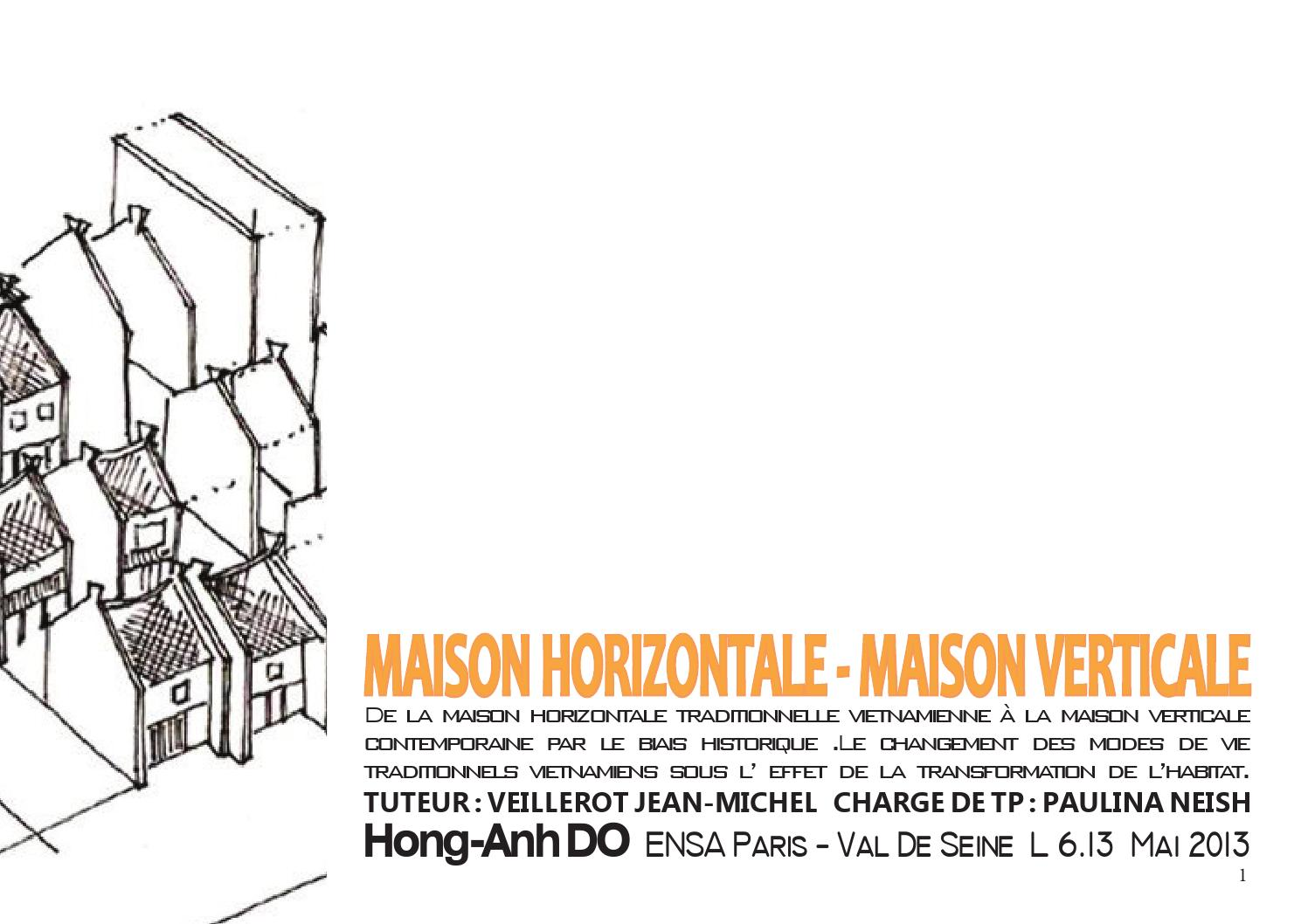 maison traditionnelle vietnamienne by hong anh do page 1. Black Bedroom Furniture Sets. Home Design Ideas