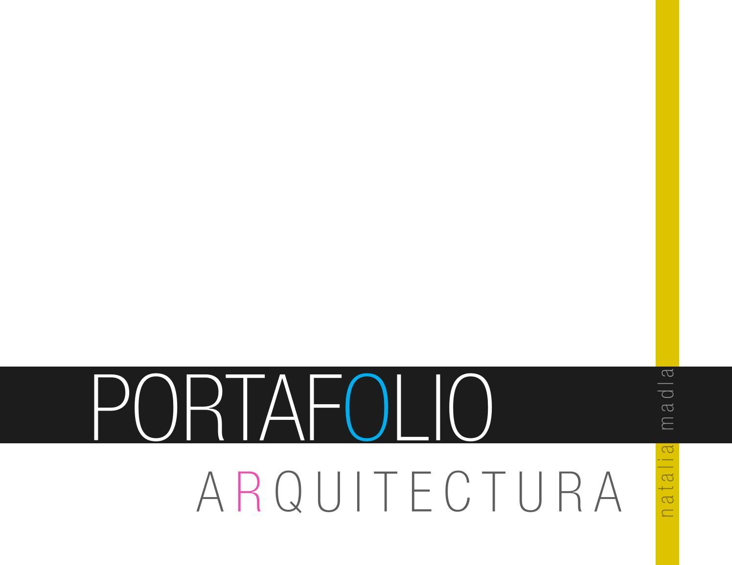 Portafolio arquitectura by natalia madla issuu for Portafolio arquitectura