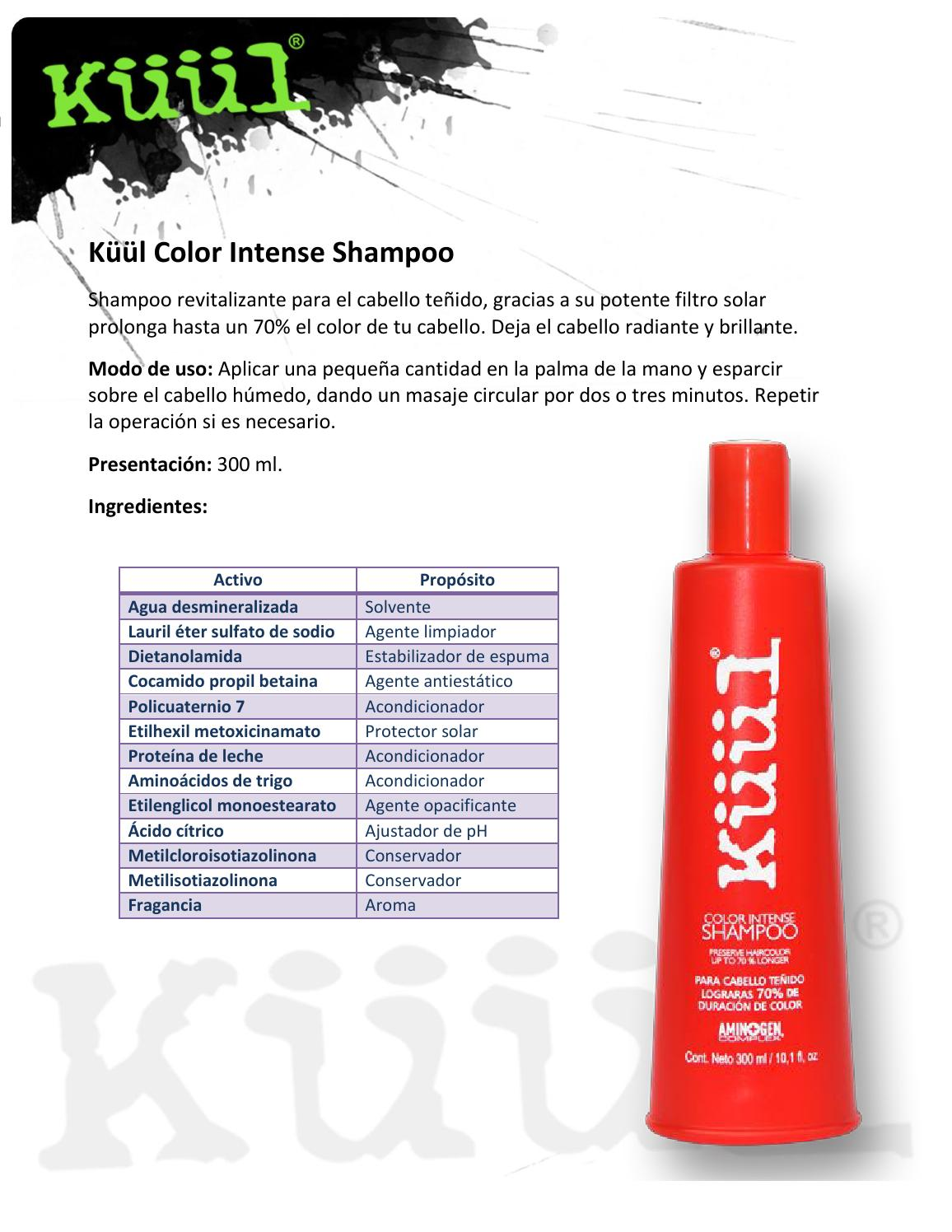 Fichas tecnicas de kuul by max beauty supply issuu for Tecnica modo 10