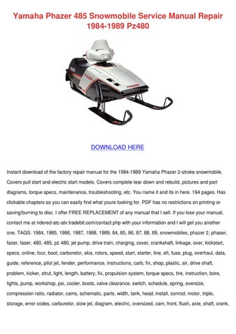 Issuu Yamaha Phazer 485 Snowmobile Service Manual R By border=