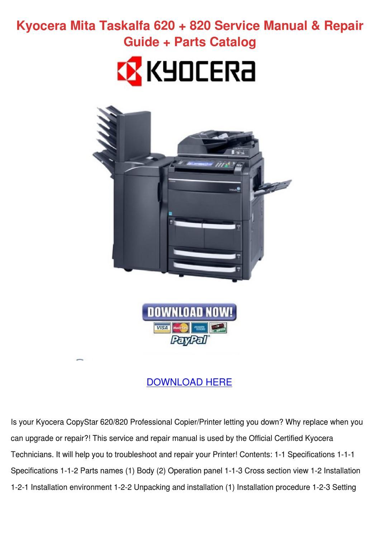 kyocera taskalfa 3010i operation manual pdf download