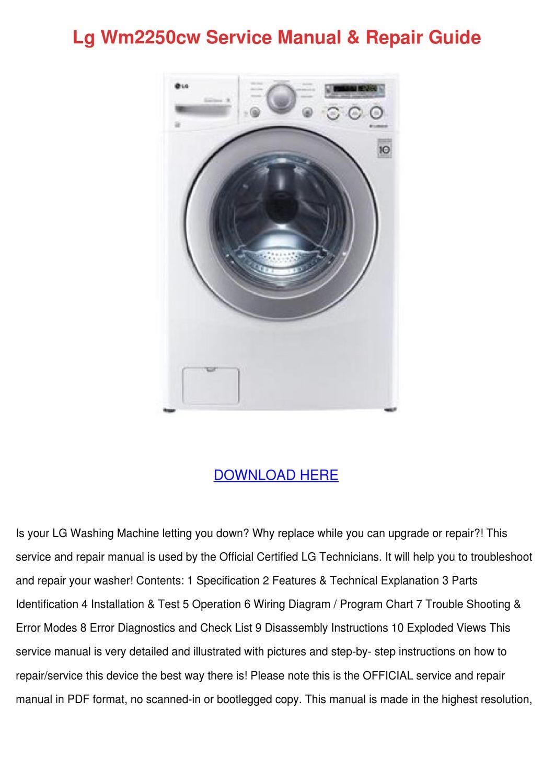 lg wm2250cw service manual repair guide by shanephifer issuu. Black Bedroom Furniture Sets. Home Design Ideas