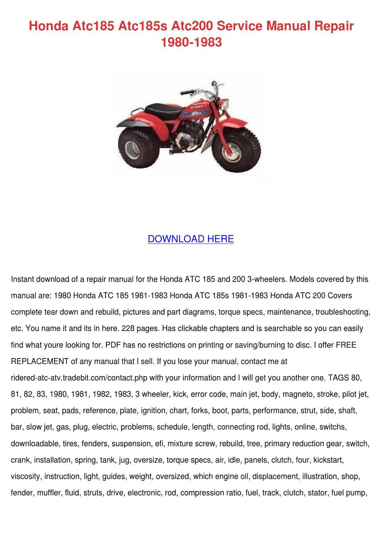 1981 Honda 185s Manual