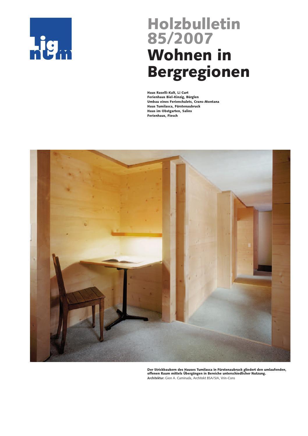 Holzbulletin 85/2007 by Lignum - issuu