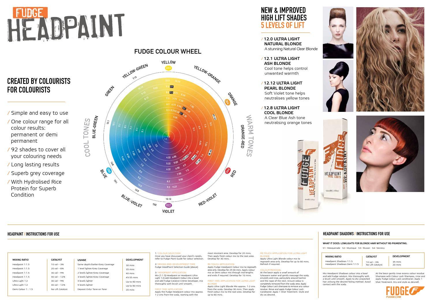 Fudge Headpaint Salon Wall Chart By Fudge Hair Issuu