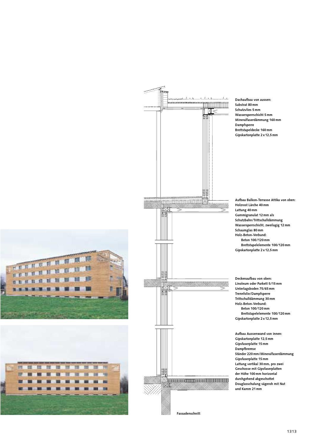 Holzbulletin 73 2004 by lignum issuu for Aufbau fachwerkhaus