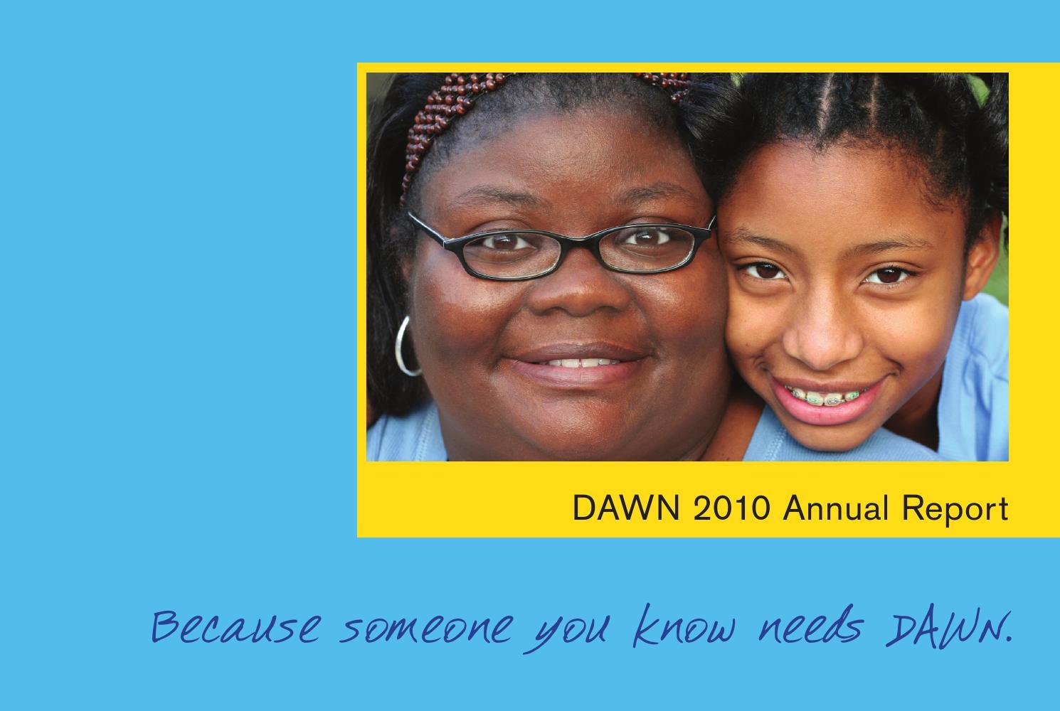 dawn s annual report by brenda chrystie issuu dawn s 2010 annual report
