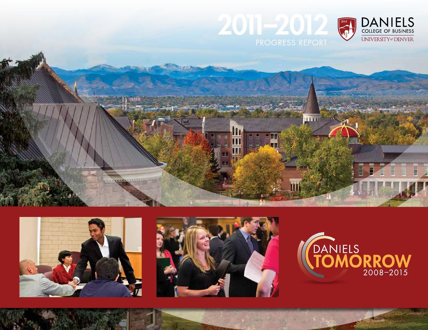 daniels tomorrow progress report by daniels college of daniels tomorrow progress report 2011 2012 by daniels college of business issuu
