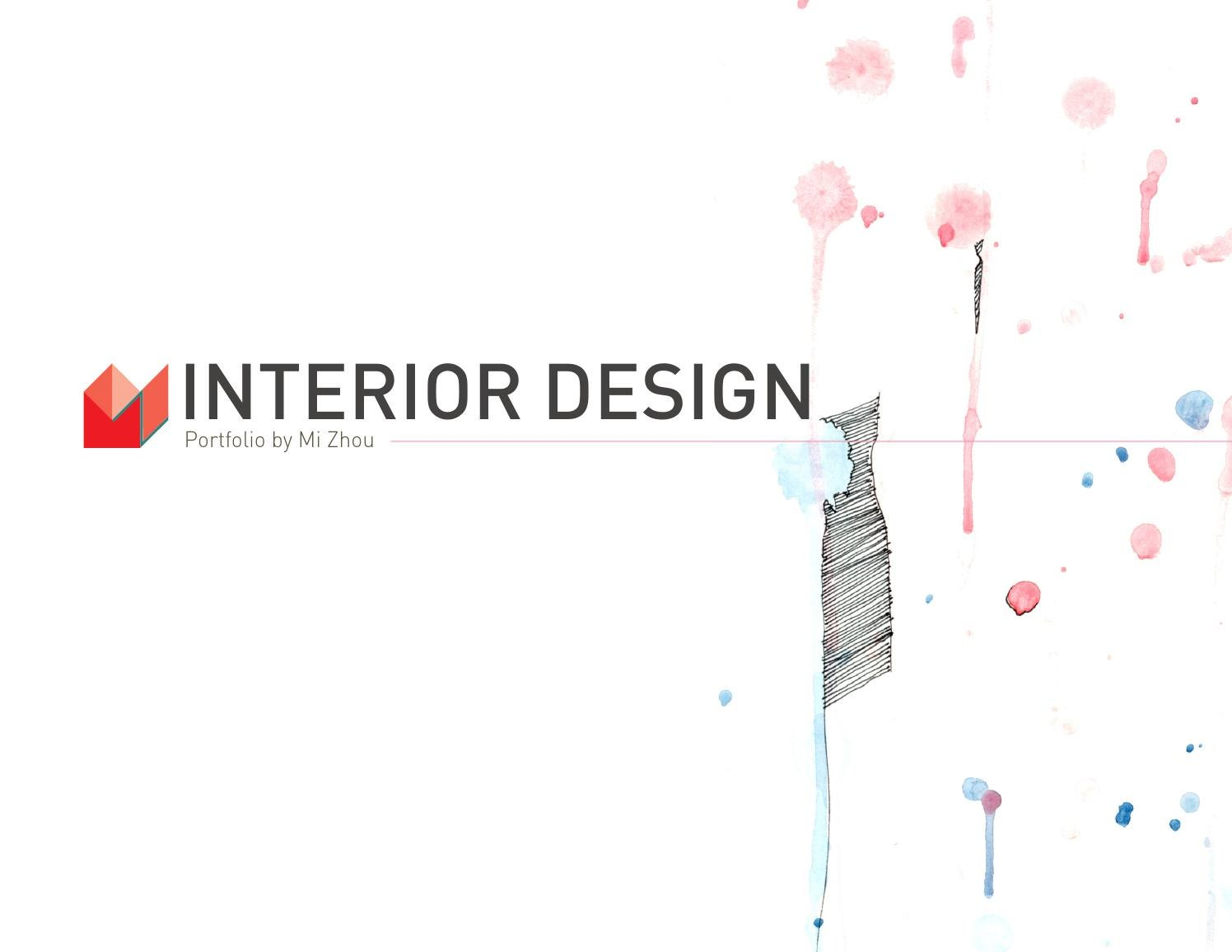 New Interior Design Portfolio 2013 By Mia Zhou Issuu