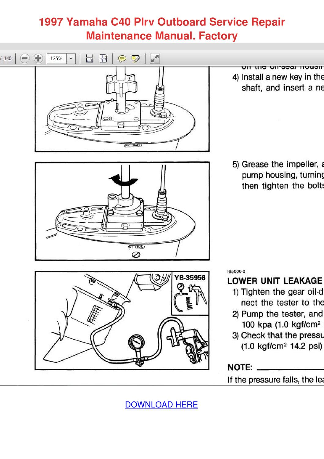 1993 yamaha service manual outboard download