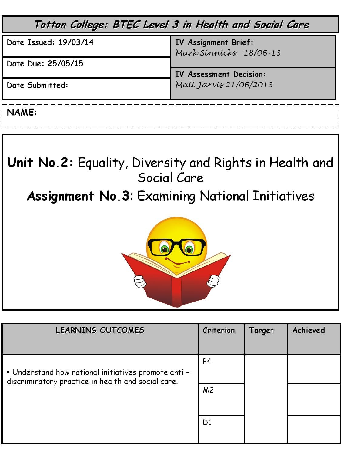 equality diversity and rights d1 Equality, diversity and rights patients/clients are people, and people have rights  they have the right to be treated fairly and with dignity and respect, regardless.