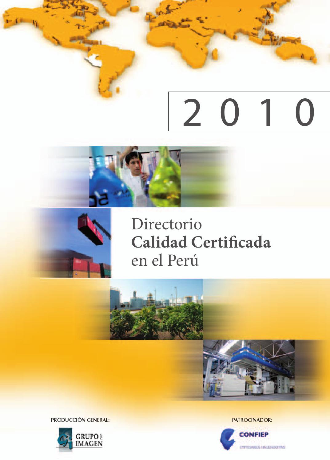 Directorio calidad certificada en el per 2010 by grupo for Lista de empresas en lima