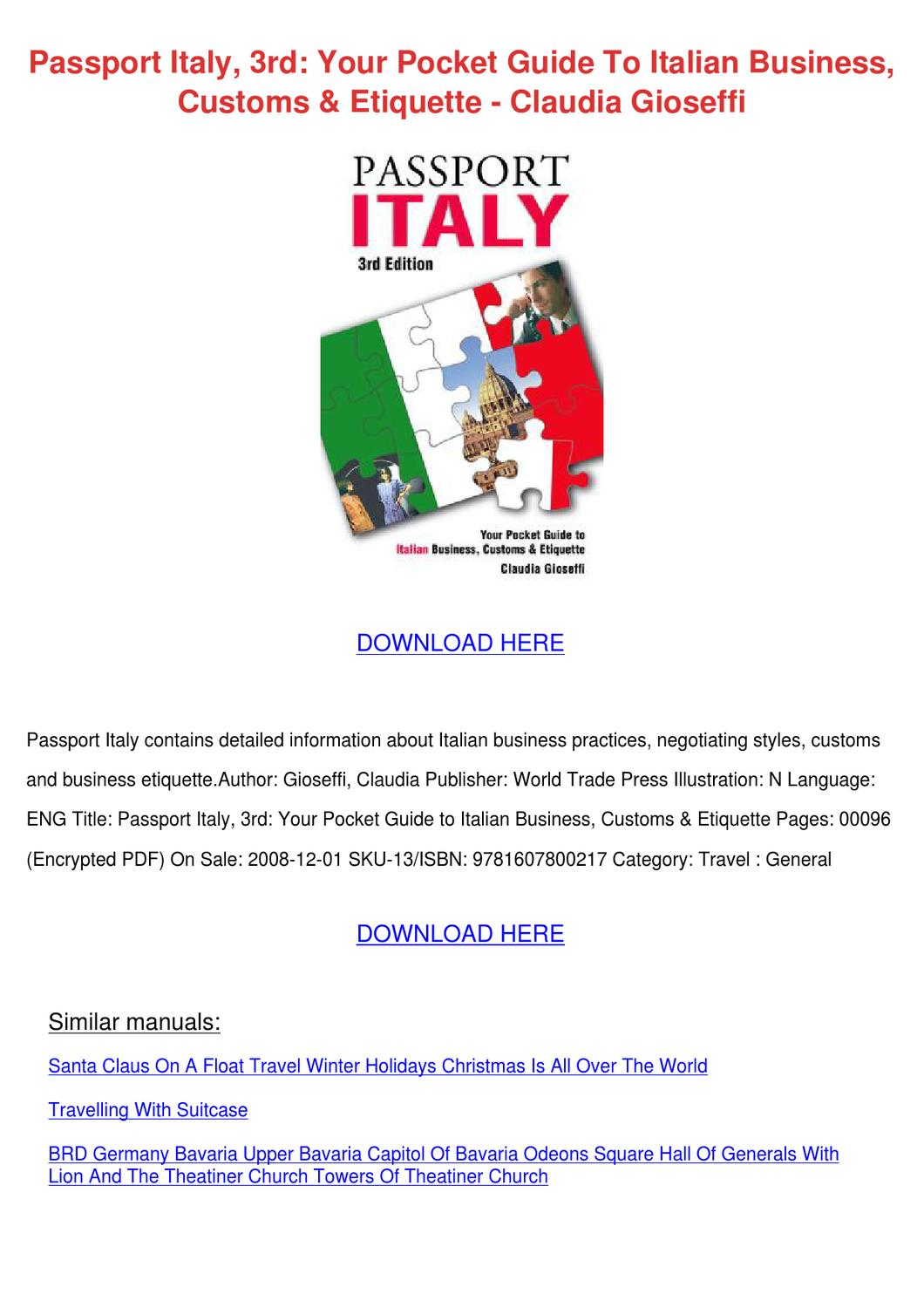 italy food pdf guide torrent