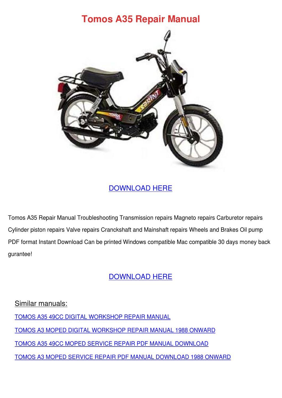 Tomos A3 User Manual