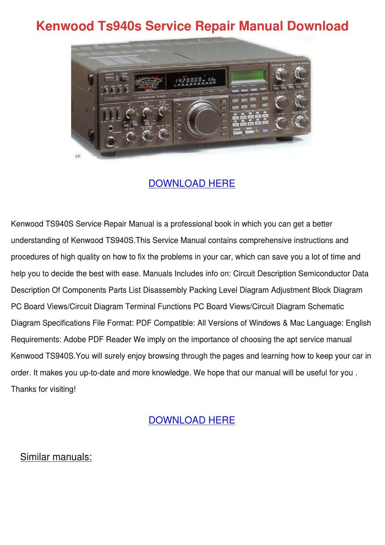Kenwood ts 940 Service manual