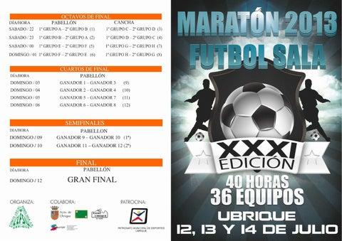 Maratón de Fútbol Sala 2013