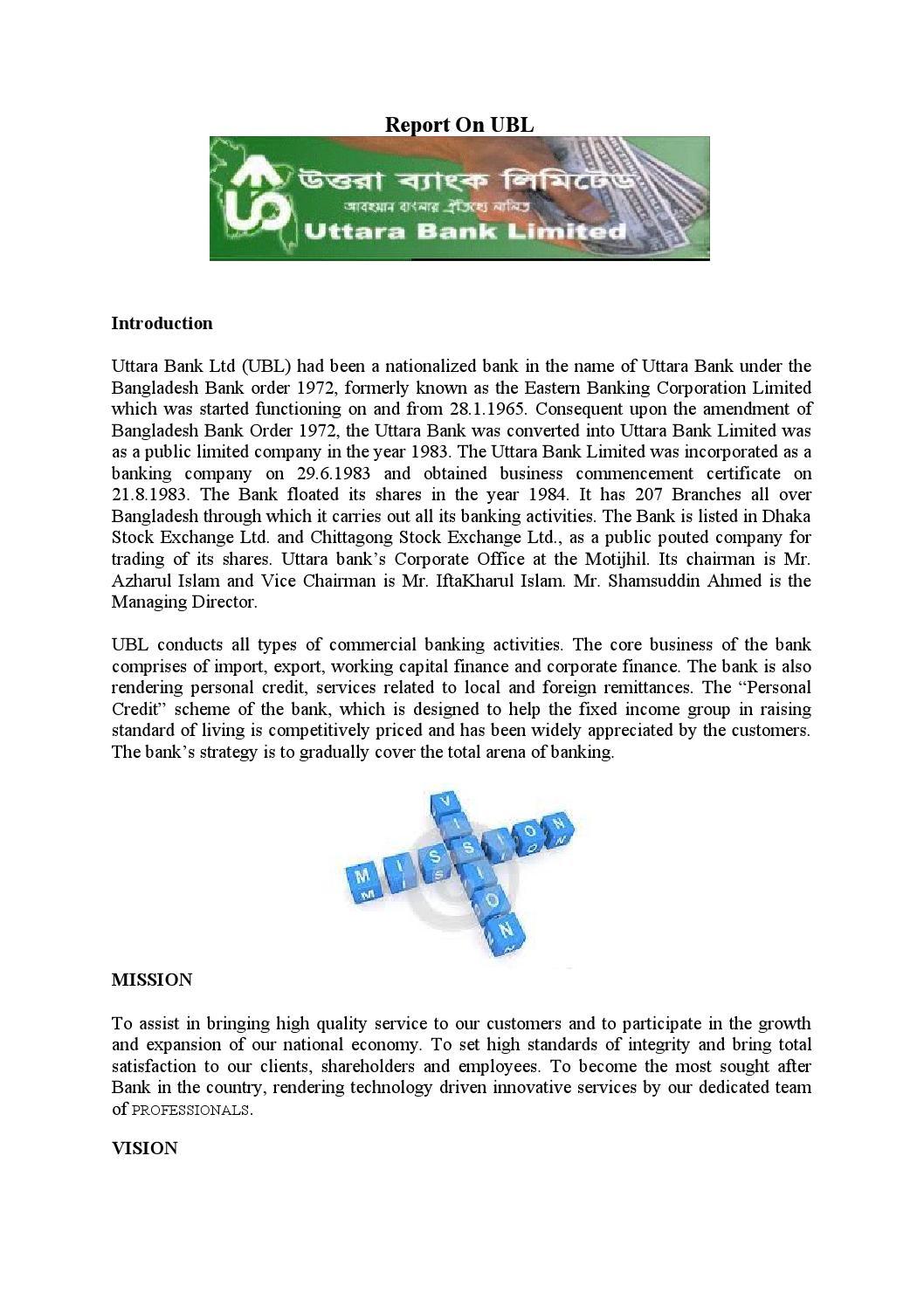 Report on eastern bank ltd