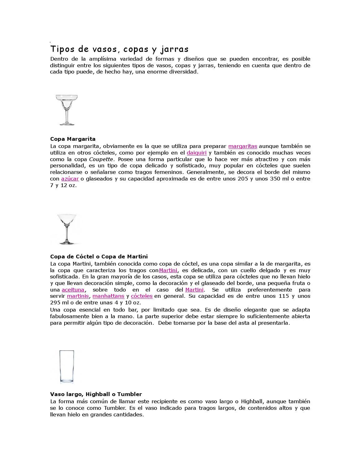 Tipos de vasos y copas by lupita vidal issuu for Tipos de copas