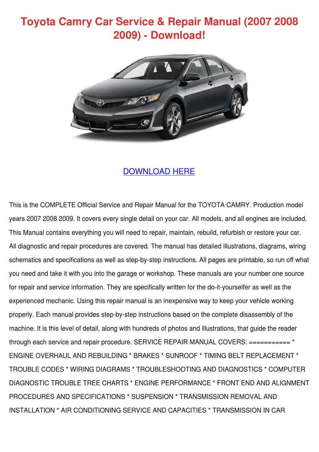 28 2004 toyota camry service manual pdf 9871 toyota camry 1994 2002 2007 2015 toyota. Black Bedroom Furniture Sets. Home Design Ideas