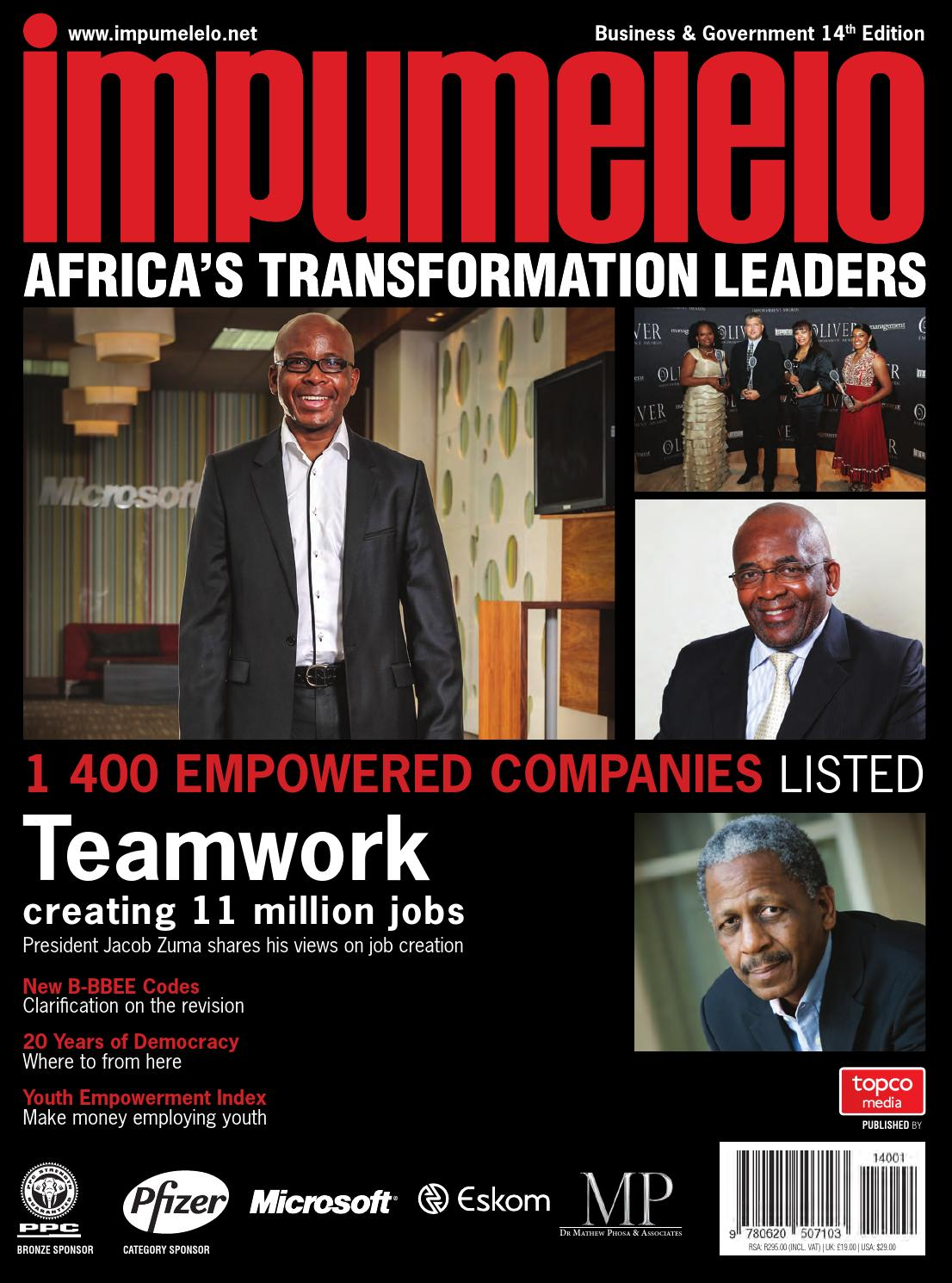 Impumelelo 14th Edition by Topco Media - issuu