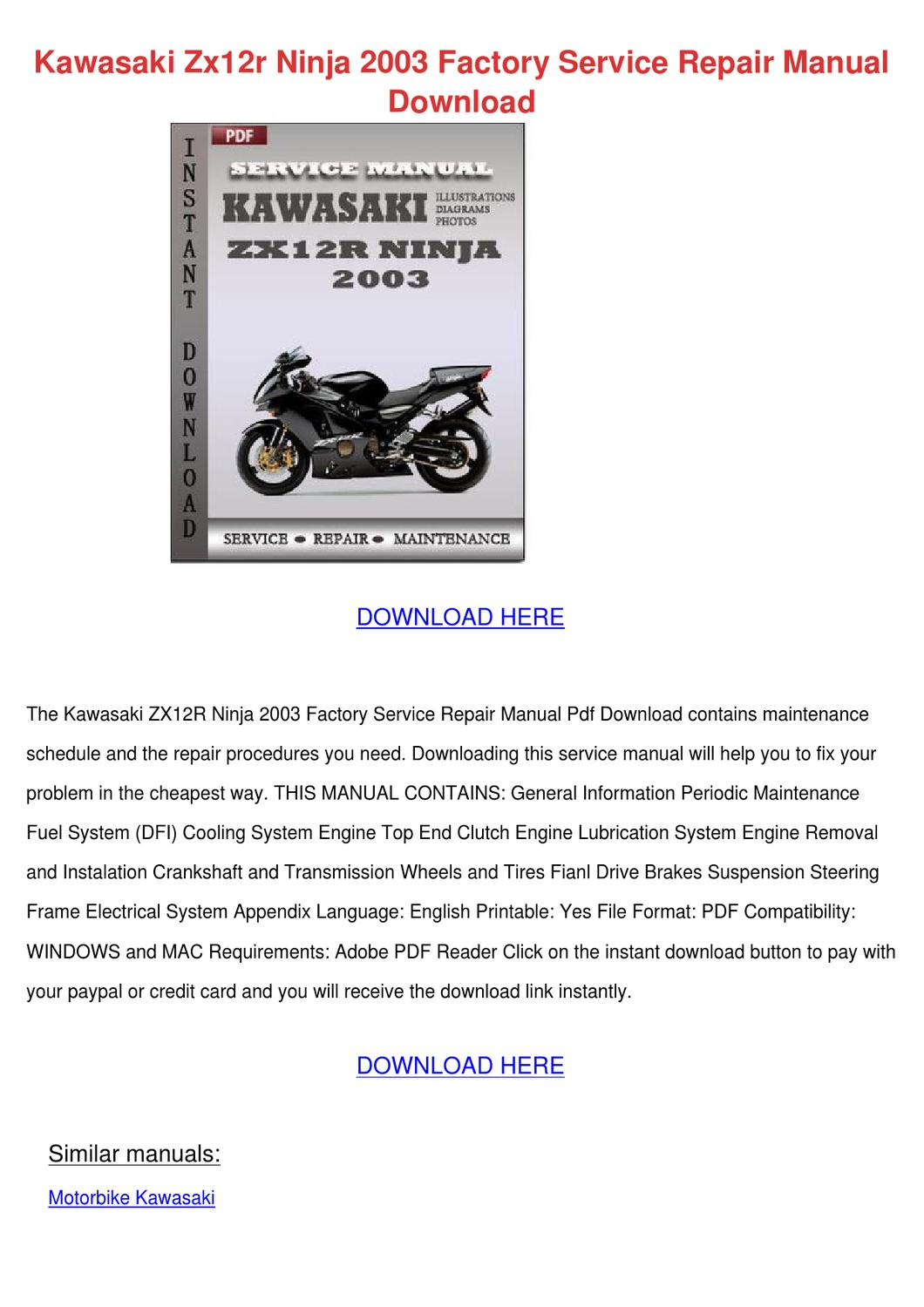 kawasaki zzr 250 service manual pdf download