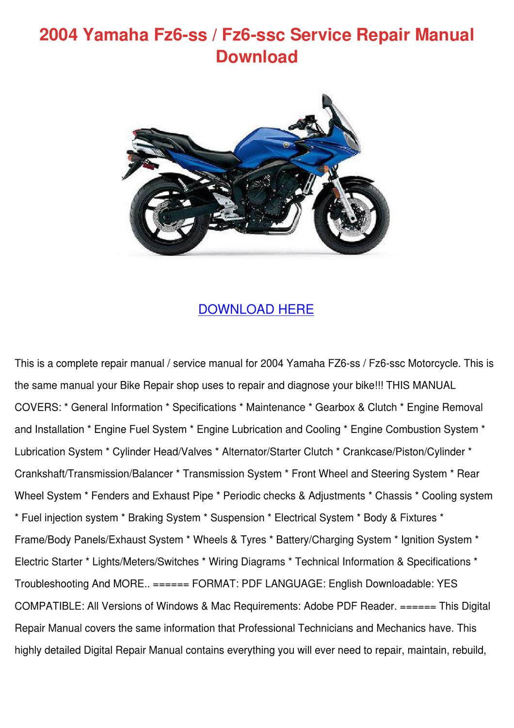 2002 Yamaha R1 Service Manual 2009 Wiring Diagram Front