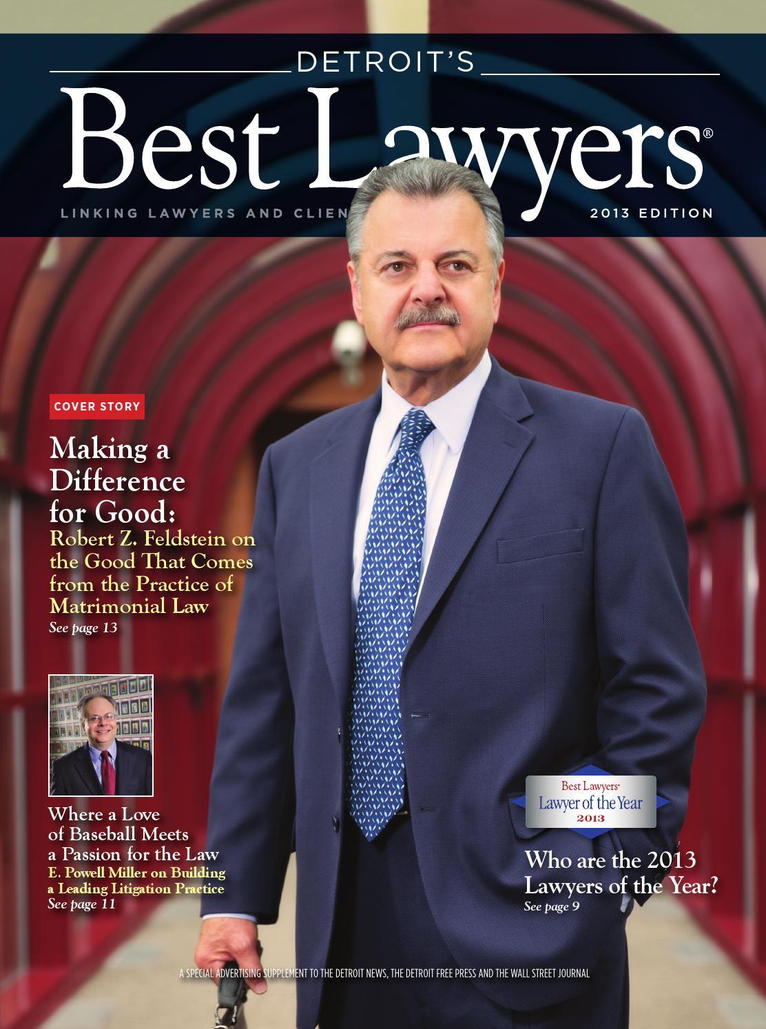 Detroit S Best Lawyers 2013 By Best Lawyers Issuu