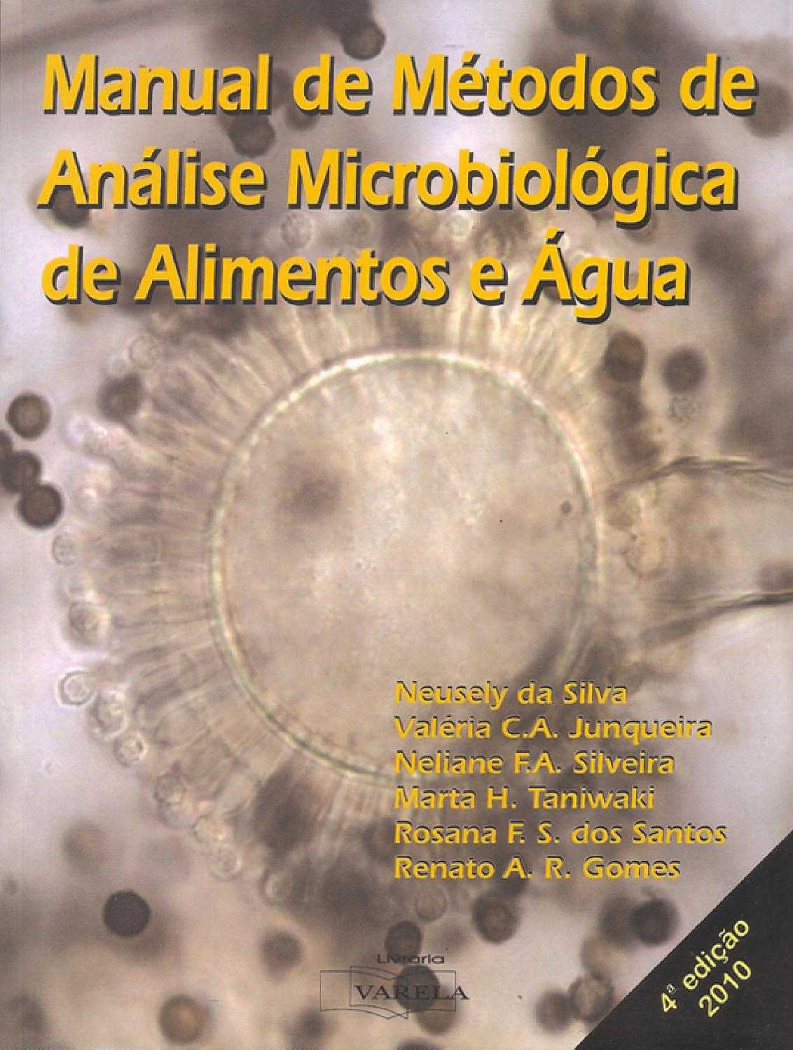 Manual de m todos de an lise microbiol gica de alimentos e for Manual de acuicultura pdf