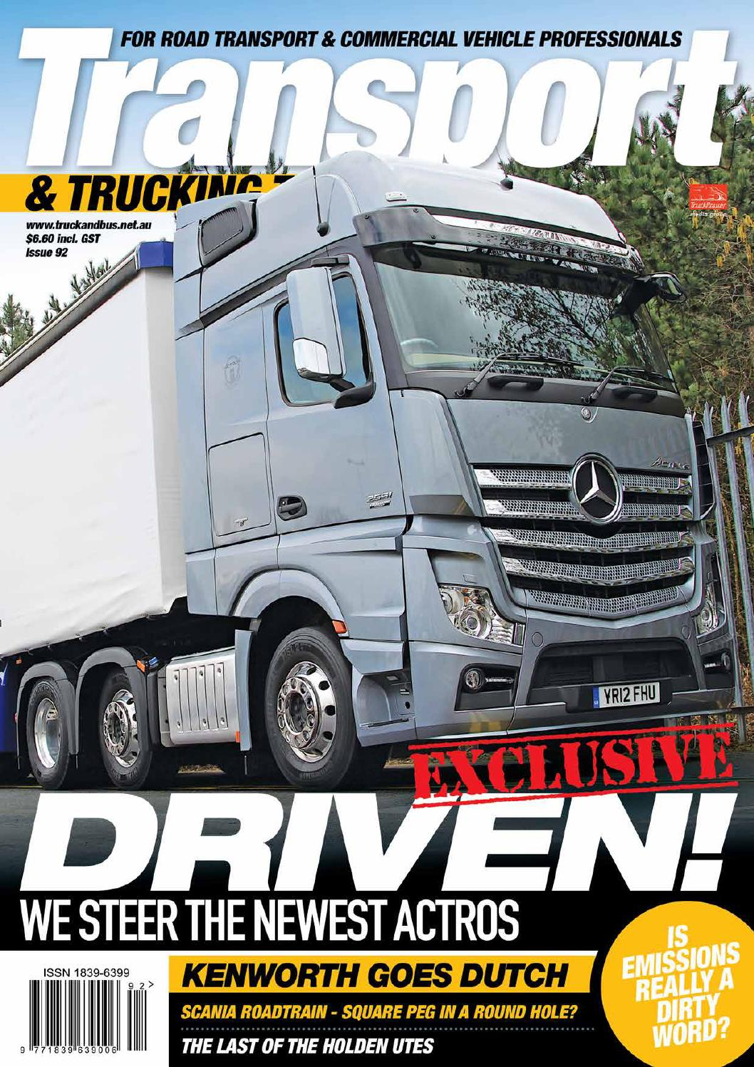 Transport  U0026 Trucking Today Issue 92 By Transport Publishing Australia