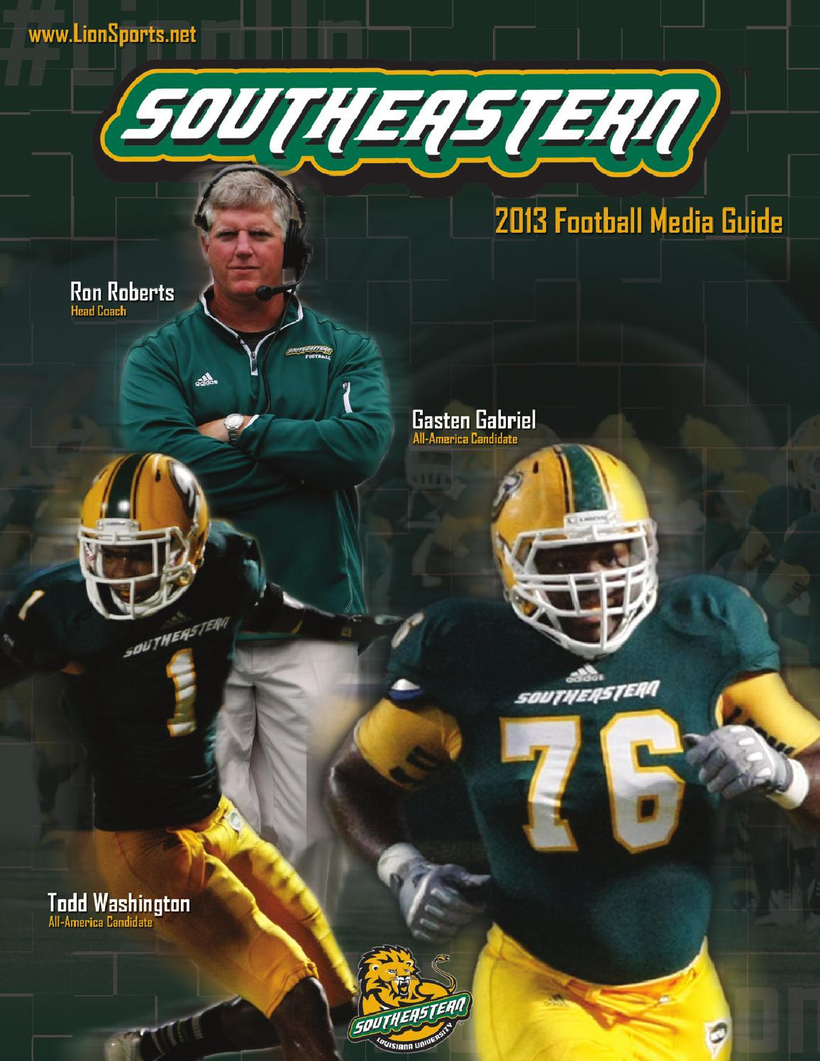 2013 southeastern louisiana football media guide by - Football conference south league table ...