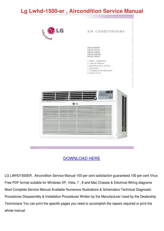 Lwhd1500er Manual