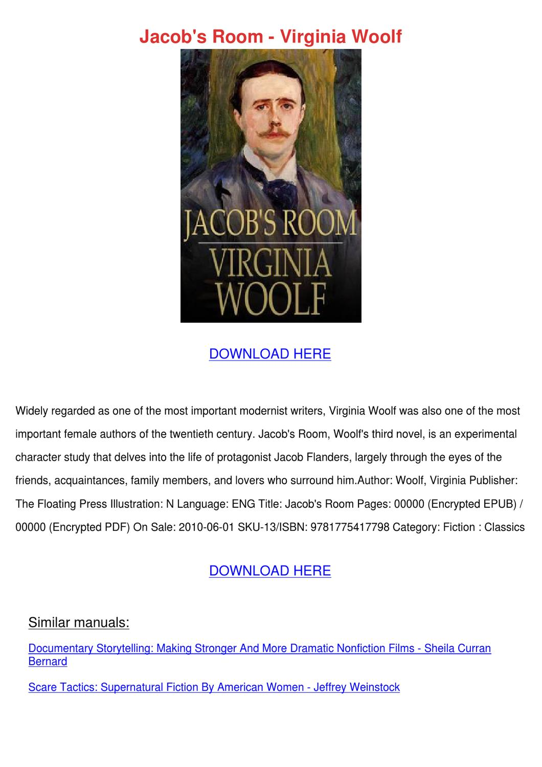 an overview of the life of virginia woolf in the novel jacobs room Top ten punctuation tips  1  i don't particularly like the play who's afraid of virginia woolf i didn't like it even when i worked at yahoo.