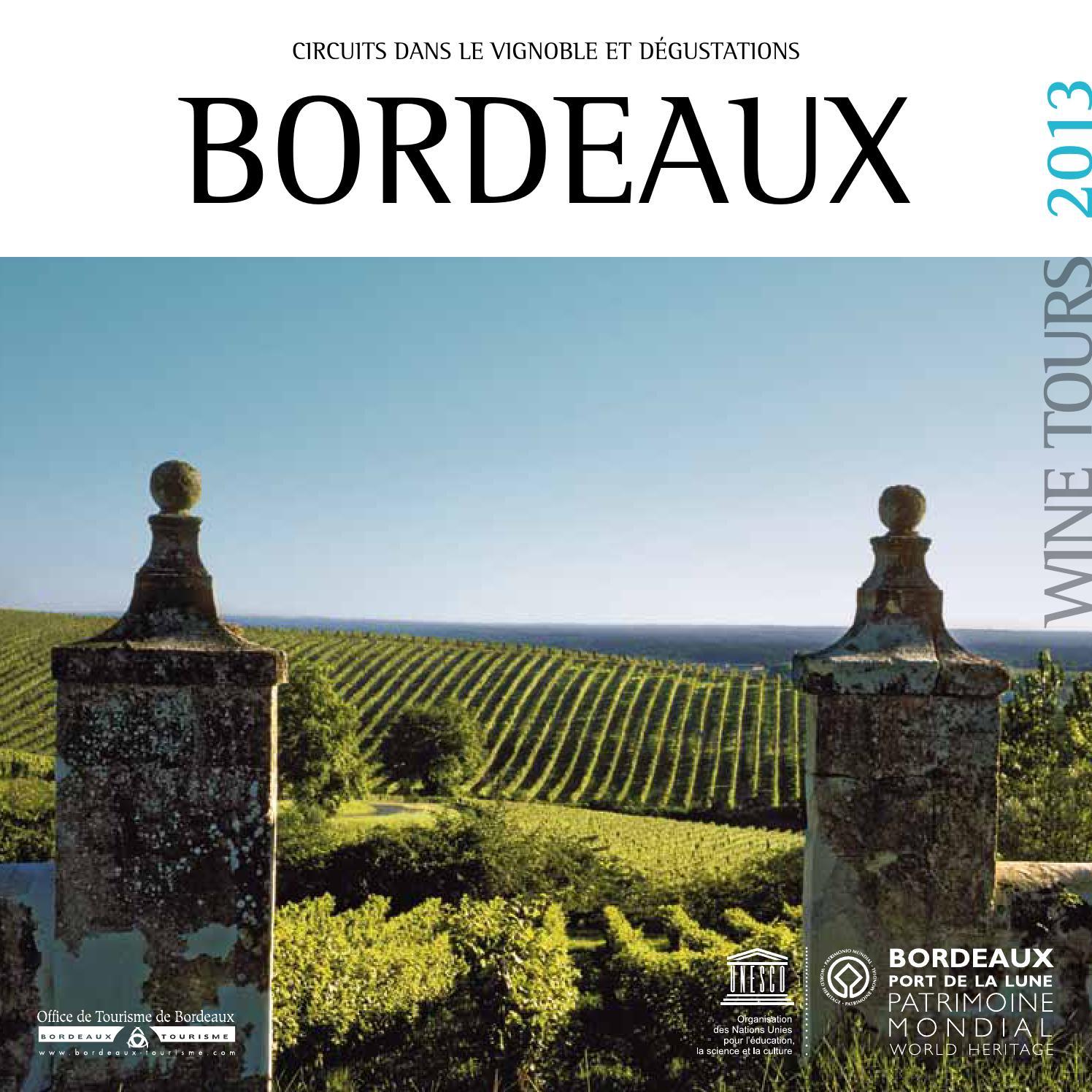 Bordeau porte du vignoble by office de tourisme de - Office du tourisme bordeaux recrutement ...