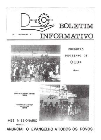 [Bio Diocesano Outubro 1989]