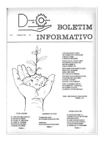 [Bio Diocesano Novembro 1989]