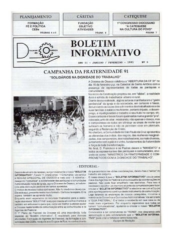 [Bio Diocesano Janeiro/Fevereiro 1991]
