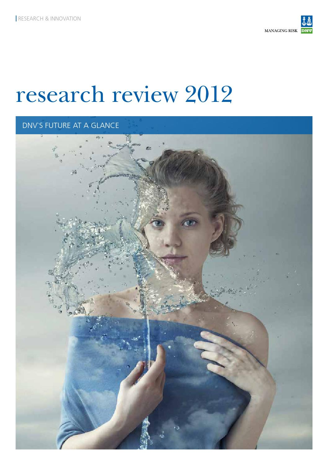 Dnv Research Review 2012 Lr 2 By Dnv Gl Old Account