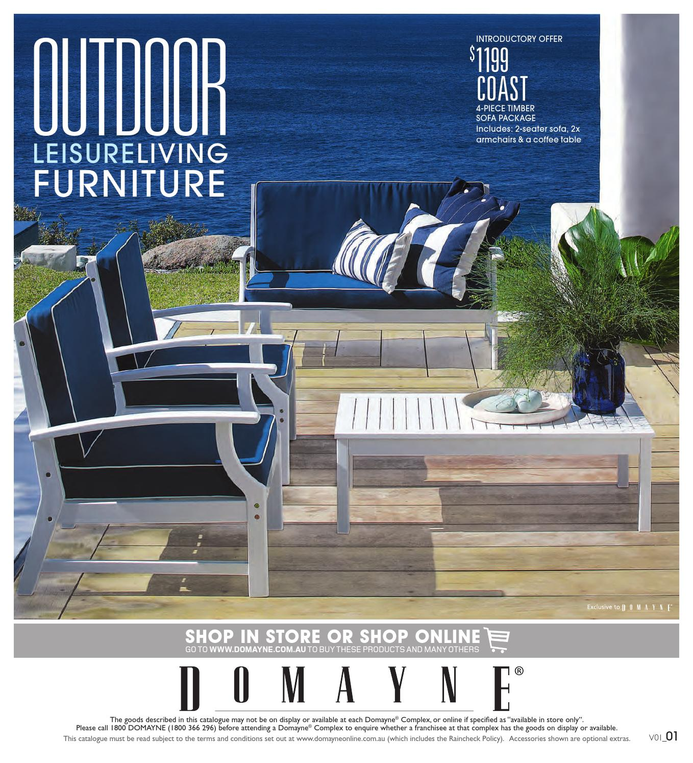 Outdoor Leisure Living Furniture By Domayne Issuu