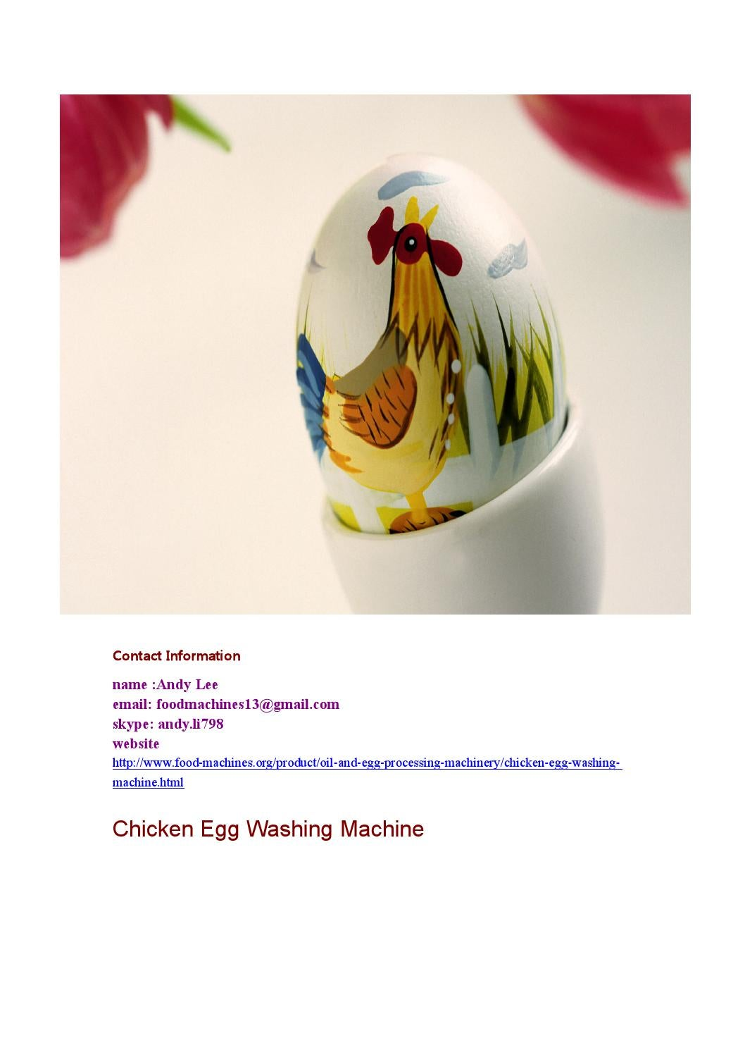 chicken washing machine