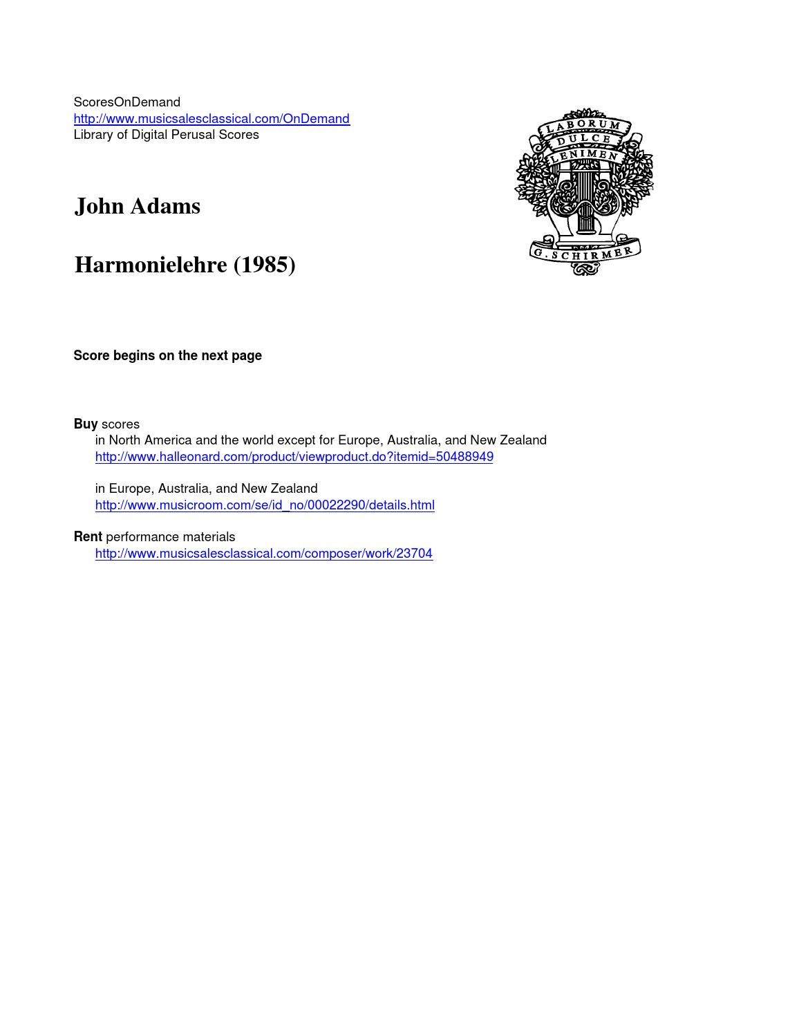adams john by scoresondemand issuu adams harmonielehre
