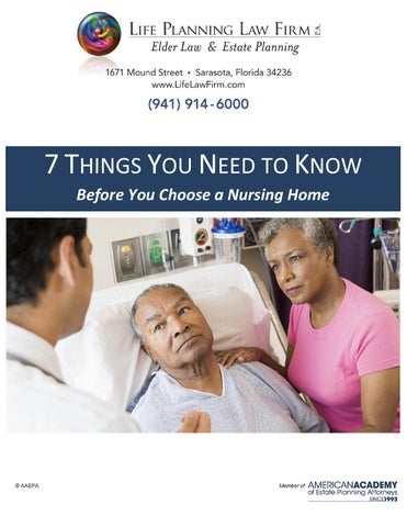 7 things you need to know for choosing a nursing home