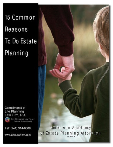 15 reasons to do estate planning