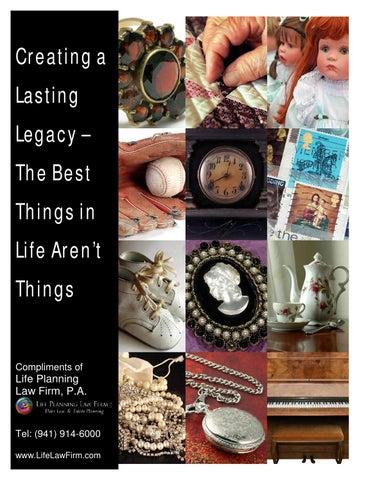 Create a lasting legacy