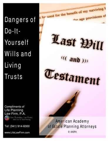 Dangers of do it yourself estate planning