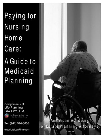 Paying for nursing home care a guide to medicaid planning